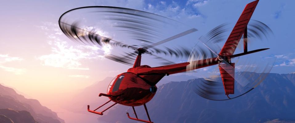 Helikopter fliegen!