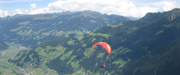 Paragliding-Thermikflug