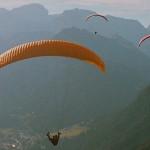 Gleitschirmfliegen in den Dolomiten