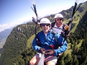 Paragliding Tandemflug am Brauneck am 5.8.15
