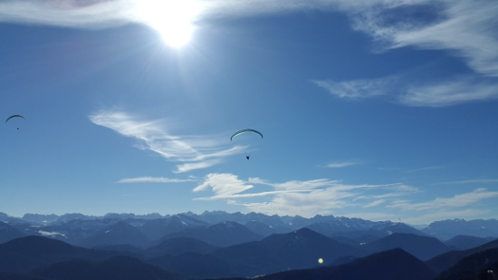 Blick nach Süden in Richtung der Zillertaler Alpen.