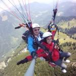 Freude am Fliegen über dem Brauneck