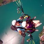 Mit dem Gleitschirm Tandem 2.500 m über dem Tegernsee