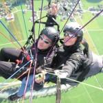 Tandemflug mit dem Gleitschirm im Zillertal