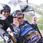 Die Freude an einem Tandemflieg im Zillertal wird live mitgeteilt...