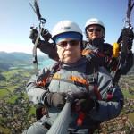 Paragliding zu zweit am Tegernsee / Oberbayern