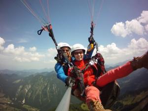 Gleitschirmfliegen in Bayern bei Lenggries