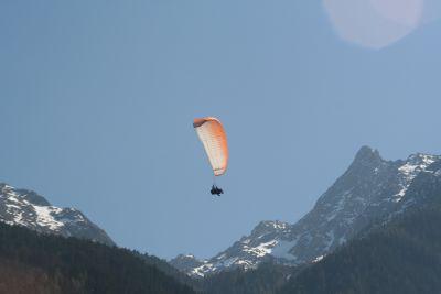 Mit dem Tandem Gleitschirm vor den Ötztaler Alpen